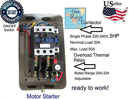 5 hp motor starters