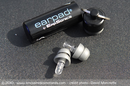 bouchon oreille moto earpad