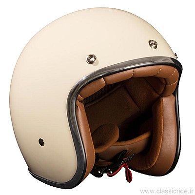 casque jet moto retro