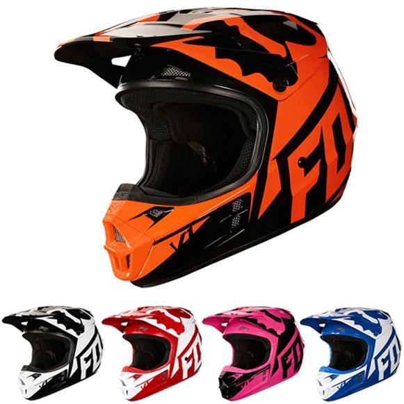 Casque Moto Cross Fox Orange