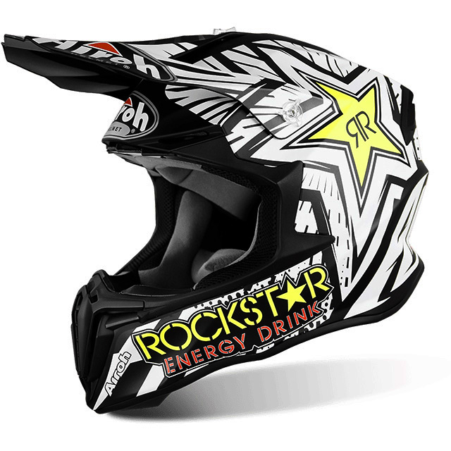 casque moto cross fox rockstar