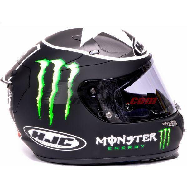 casque moto integral monster energy pas cher