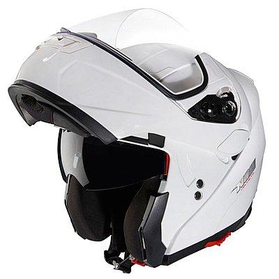 casque moto modulable rouge