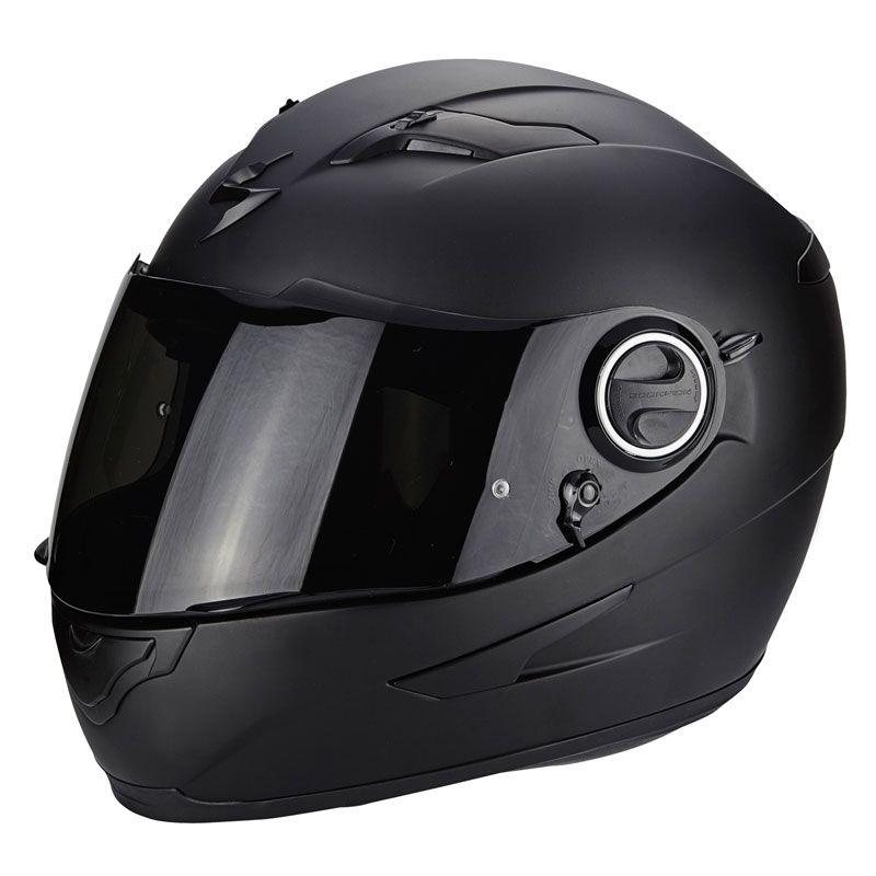 casque moto scorpion noir mat
