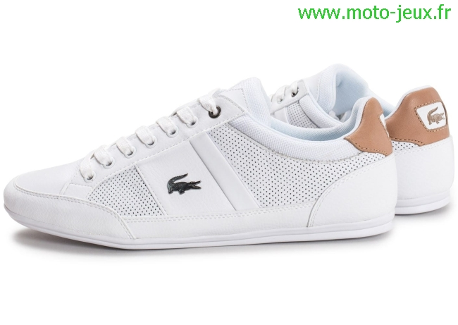 chaussure moto blanche