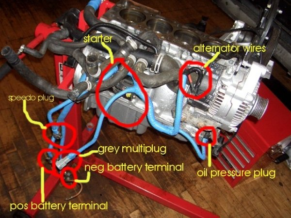 corsa c starter motor location