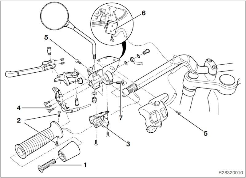 demontage commodo moto bmw