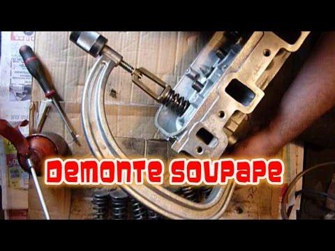 demontage soupape moto cross