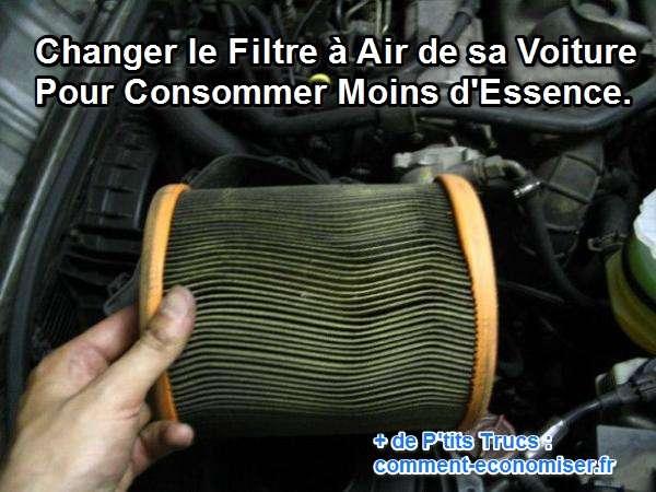 filtre a air encrasse consommation