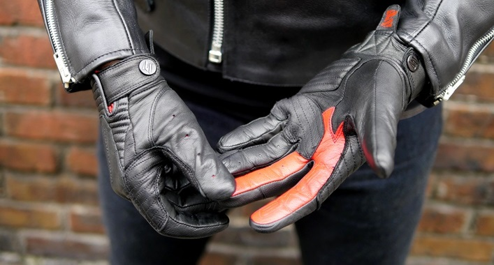 gants moto retro