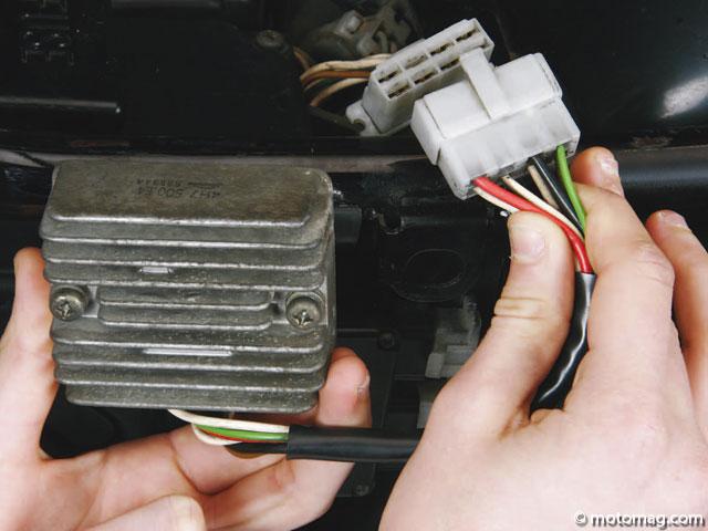 regulateur de tension moto hs