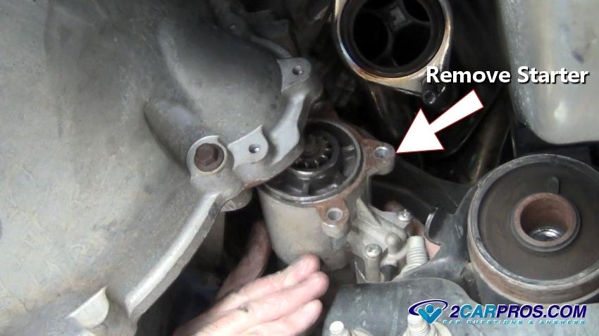 replacing a starter motor