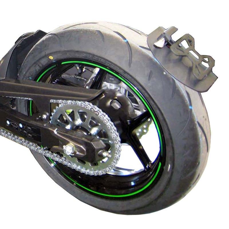 support de plaque moto sur roue