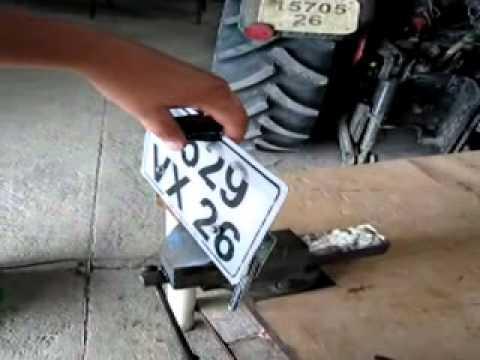 support plaque immatriculation moto electrique