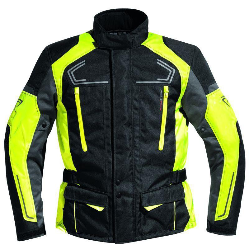 veste moto jaune et noir