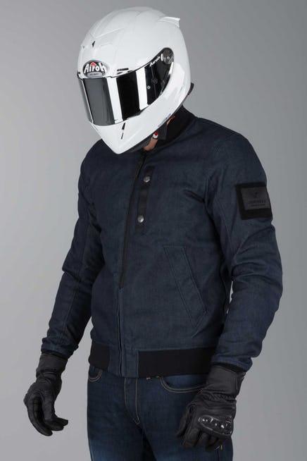veste moto yamaha bleu